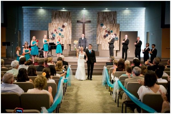 Teal + Orange Wedding