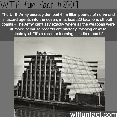 U.S army dumped nerve agents into the ocean - WTF fun facts