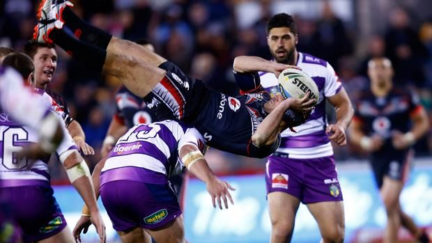 A backflipping Warrior and the Roosters' dominant right edge headline NRL.com's Round 18 Team of the Week. Read More...http://bit.ly/1HYQ96d