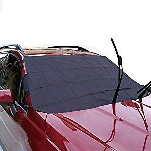 Car Windshield Cover for Winter - Aidoo Foldable Auto Windshield Snow Cover Sun Shade Protector Fit for Most Vihicles - Resistant To Rain,Frost,Snow,Dust - Oxford Fabric: Automotive