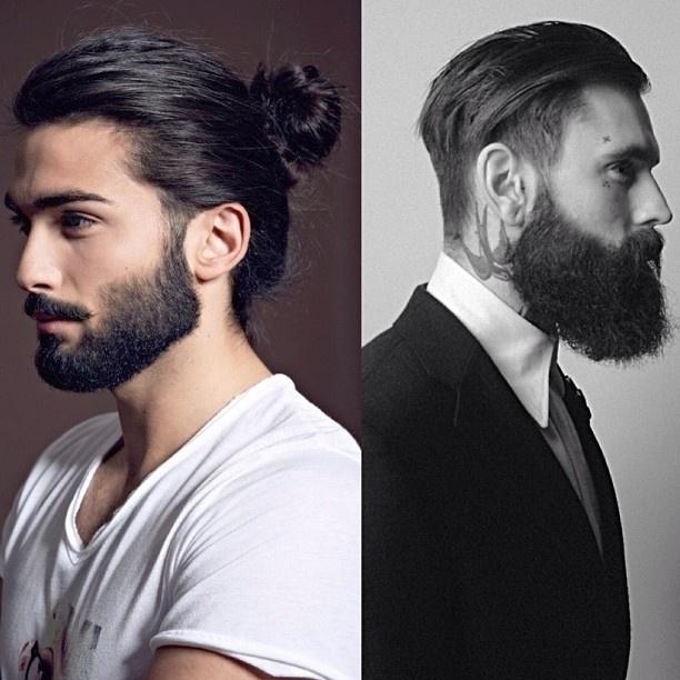 Trend allert; man buns, beards and sleek crew cuts, love # ...