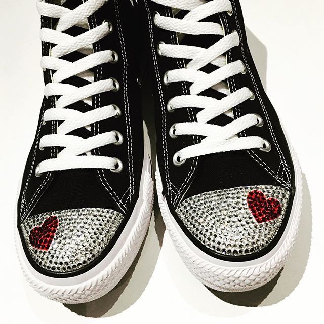 Valentine's Day is coming soon! What are you getting your Valentine? #hearts #valentinesday #february14 #customconverse #trickedkicks
