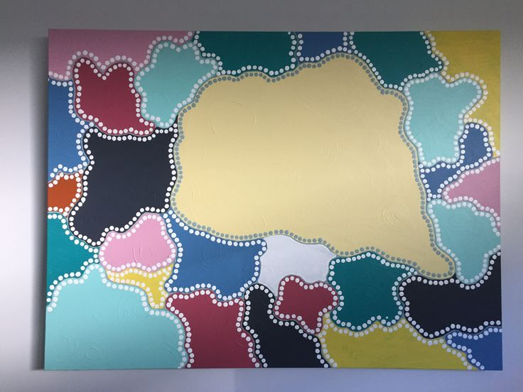 Colour Patch Abstract and calming.  120cm x 90 cm For sale.