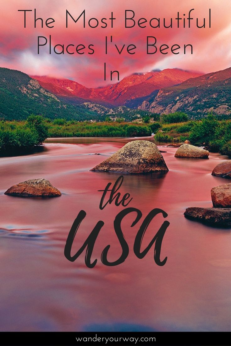 As a follow up to the most beautiful places I've been post, I'm sharing the most beautiful places I've been in my home country — USA. There are lots of them! Click through to find out more.