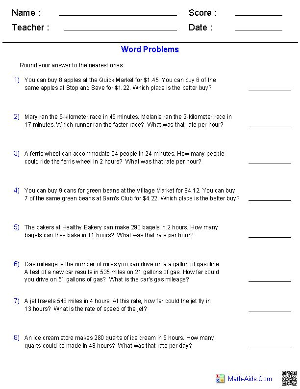 Ratio Proportion And Percent Worksheets In 2020 Word Problem Worksheets Word Problems Math Word Problems