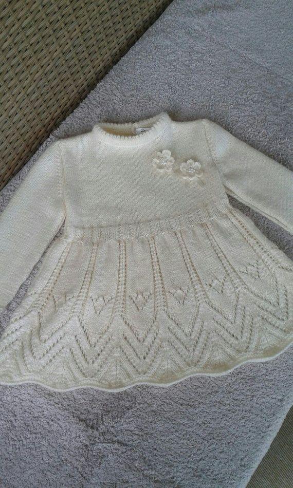 little girl dressknitting dessflower girl by NORTHsKNITTINGs