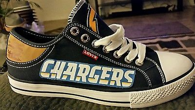 NFL Los Angeles Chargers Levis Canvas Men's Sneakers | eBay