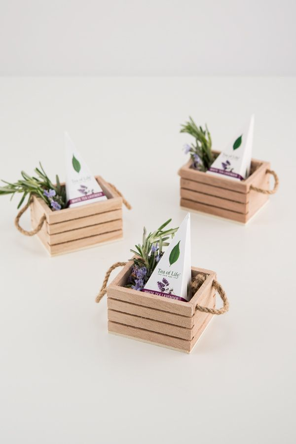 Mini Wooden Crate With Jute Handles Rustic Weddings Craft Stick