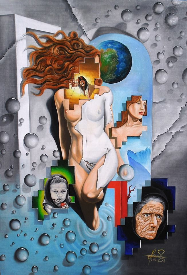 """""""The Others Me"""" - Oil on canvas.  #art #painter #painting #surrealism"""