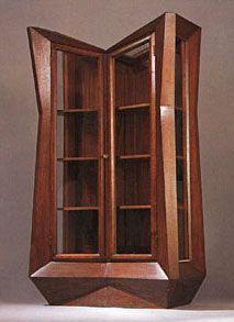 Czechislovakia. Cabinet designed, 1912 // by Josef Gocar (Czech Cubist)