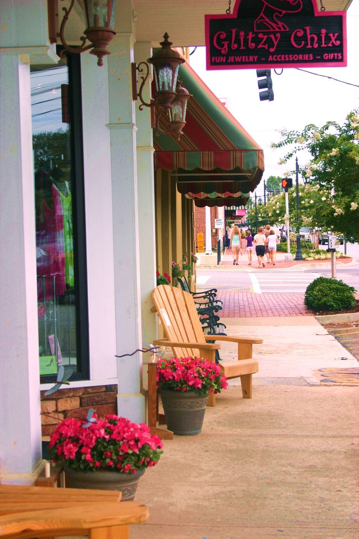 Downtown Blue Ridge, Georgia - we bought 2 Adirondack chairs from this shop - owner makes them himself.