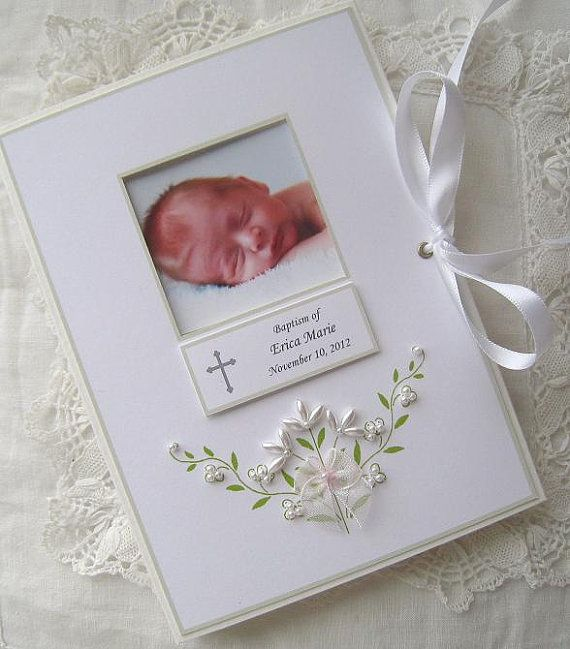 Personalized Photo Album Baptism Baby Gift  , Christening, Dedication, Newborn Gift - Petite Beaded Baby Gift 5x7