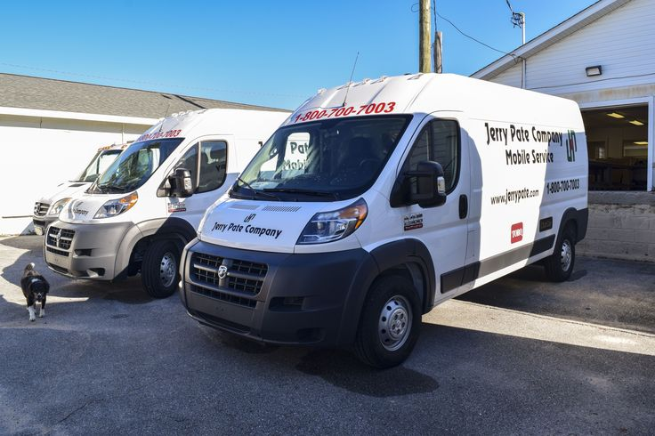 Jerry Pate Company workvan graphics by Pensacola Sign in Pensacola, Florida. 🚗💨 On Average, vehicle wraps cost less than $1 per thousand impressions and outdoor advertising like vehicle graphics have the greatest return on investment. Let us help you create your perfect rolling billboard! #pensacolasign