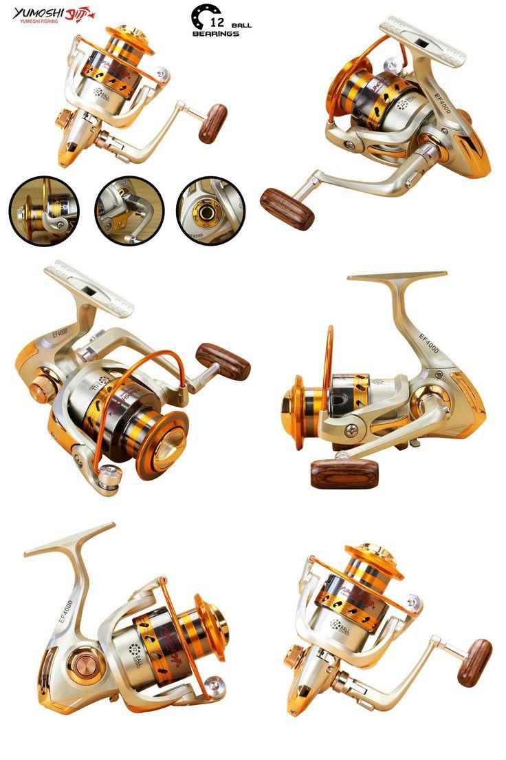 [Visit to Buy] Yumoshi 500 - 9000 12BB Fishing Reel fly fishing reel Carp Feeder Spinning Fishing Reels Carretilhas de pesca Moulinet molinete #Advertisement
