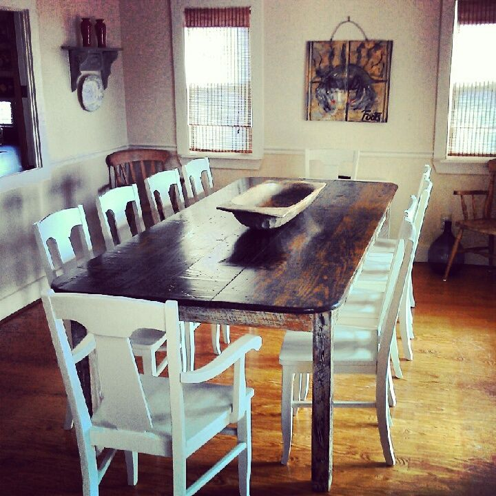 Dining Table Made From Old Reclaimed Wood By Landrum Tables In Charleston Landrumtables