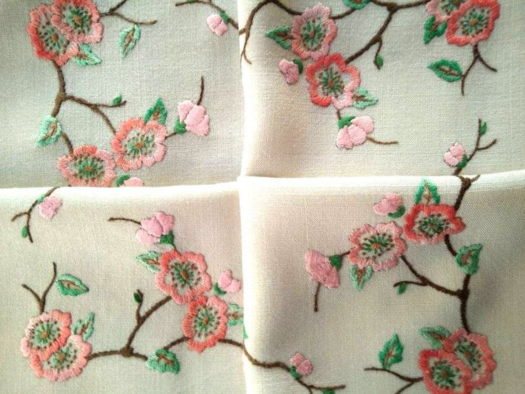 Vintage Pink/Coral Briar/Dog Roses ~ Hand Embroidered Tablecloth FOR SALE • AUD 95.00 • See Photos! Money Back Guarantee. Track Page Views WithAuctiva's FREE Counter 322637969080