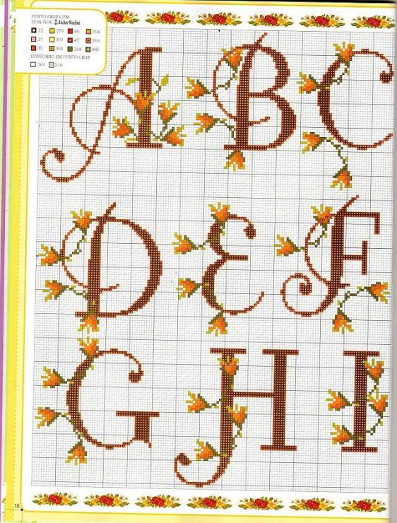 Herbst - Autumn - Alphabet cross stitch - Gallery.ru / Фото #122 - Алфавит - anethka: