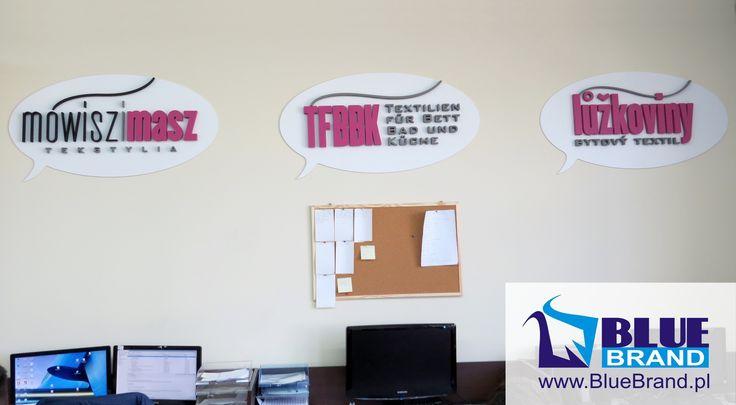 logotypy ze styroduru na płycie pcv - projekt i wykonanie www.BlueBrand.pl #BlueBrand #AgencjaReklamowa #reklama