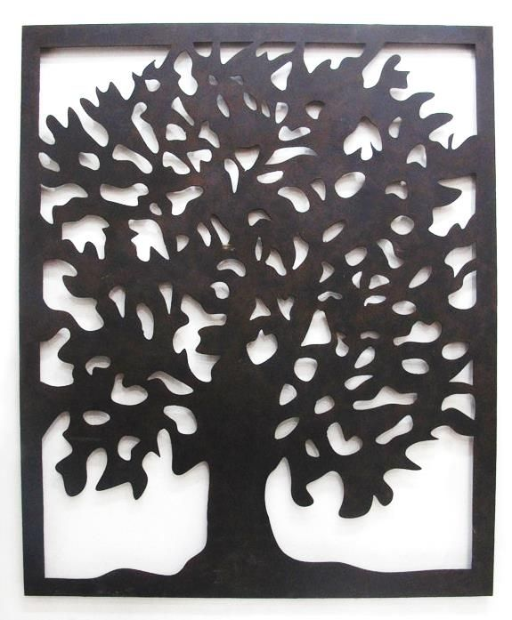 Art Décor: Outdoor Wall Art Laser Cut Steel Tree Of Life From Earth