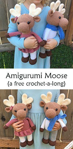 Amigurumi Moose CALGrace and Yarn