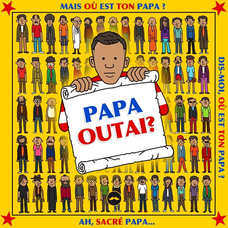 En hommage à #Stromae le #GoldenMoustache  propose un livre FORMIDABLE qui fera plaisir aux petits et aux grands : #papaoutai