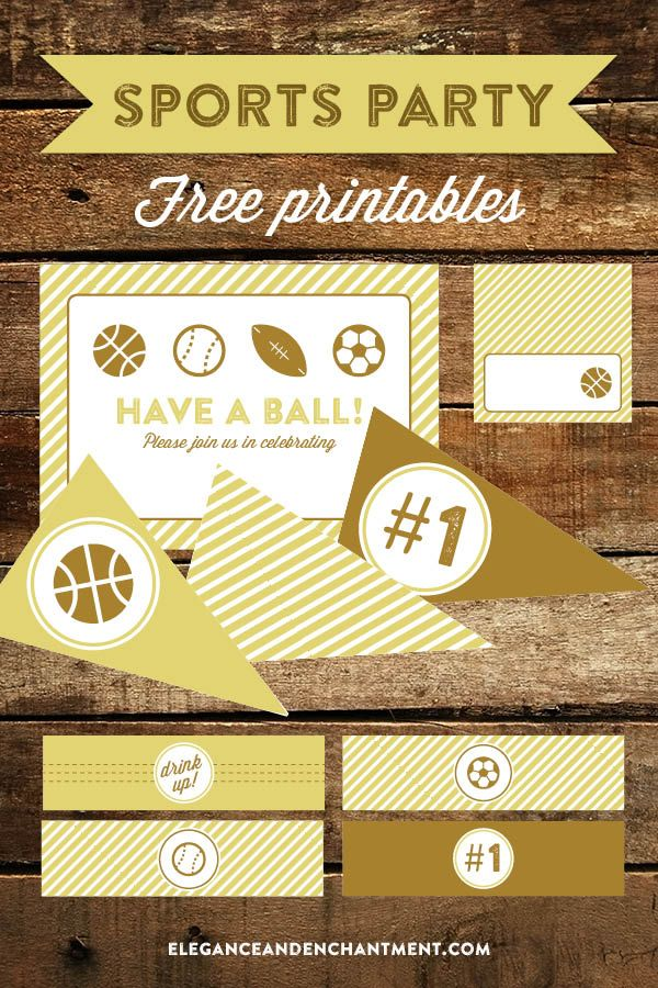 Sports Party Printables // Free Download from Elegance & Enchantment