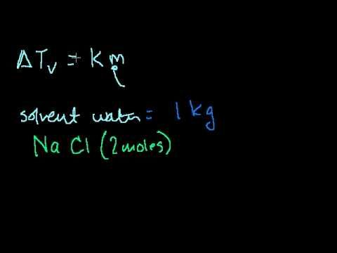 Boiling Point Elevation and Freezing Point Supression - YouTube