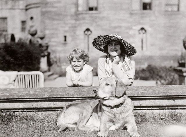 The Duchess of York (later Queen Elizabeth The Queen Mother) and Princess Elizabeth (now The Queen), photographed at Glamis Castle in Scotland by The Duke of York (later King George VI) in 1930. The Royal Collection © Her Majesty Queen Elizabeth II.