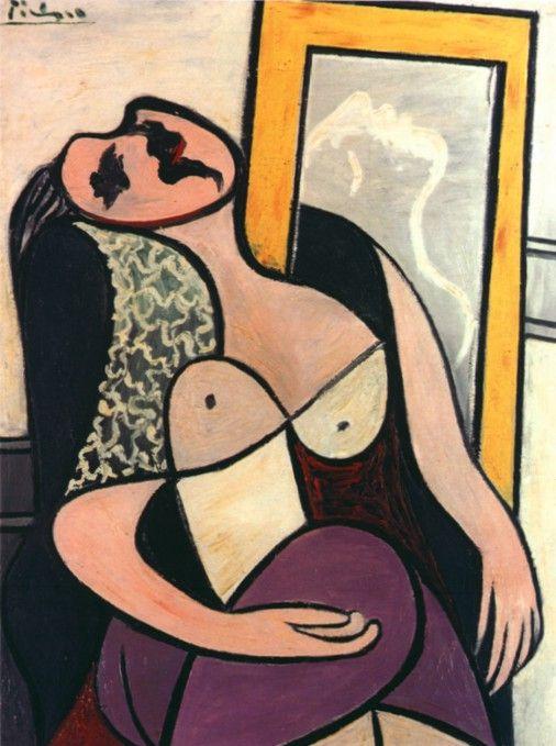"""Пабло Пикассо - """"Спящая у зеркале (Мария-Тереза Вальтер)"""", 1932"""