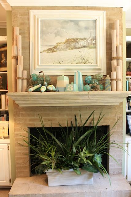 Summer of '12 Mantle....lots of diy info on the beachy items