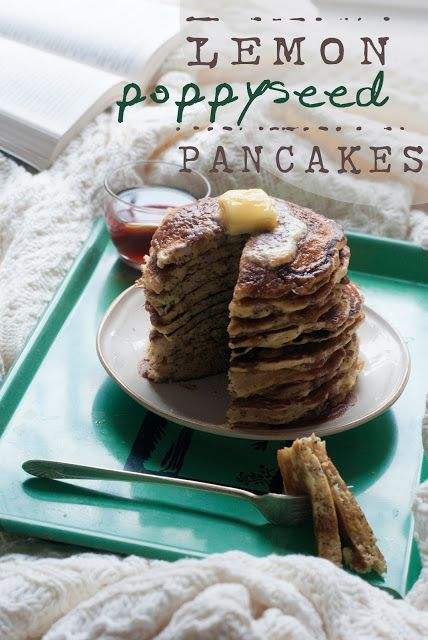Lemon Poppy Seed Pancakes | foods that need to be made | Pinterest