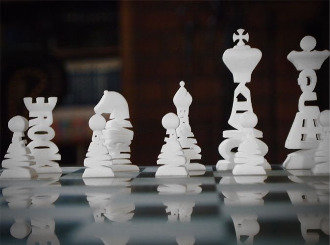 typography chess pieces