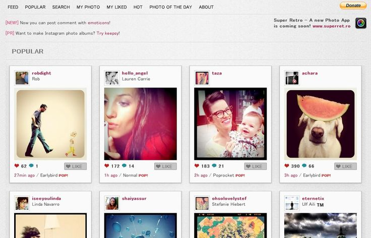 Ever wish you could see your Instagram feed on your PC? Yay for Webstagram!