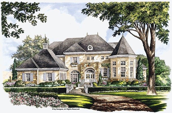 Eplans Chateau House Plan Majestic Bay 5134 Square