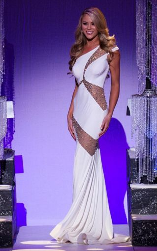 Miss Missouri USA 2016 Evening Gown: HIT or MISS? | This year's Miss Missouri, Sydnee Stottlemyre, brought home the crown in an edgy design with a simple and classic silhouette, keeping all eyes on her.  Read more: http://thepageantplanet.com/miss-missouri-usa-2016-evening-gown/#ixzz3yhc6ULHY