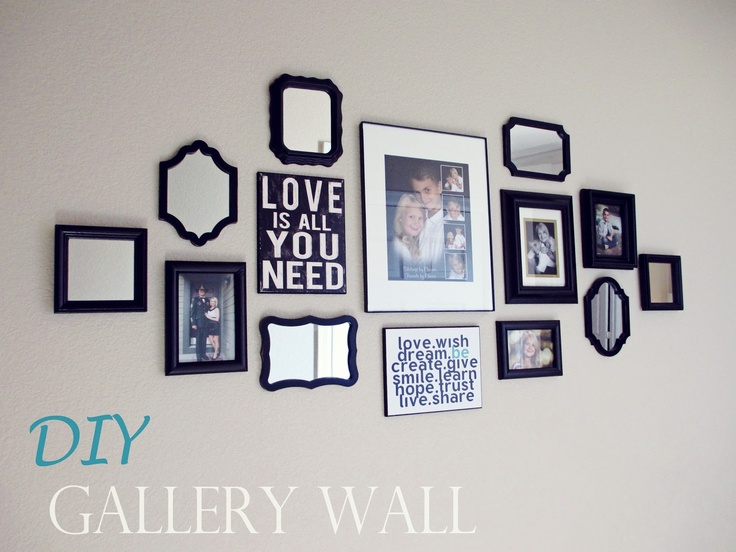 thrifty and fabulous accessories diy gallery wall room themesliving room wallsphoto displayswestern decordiy