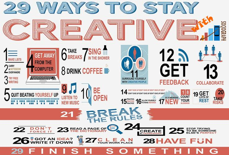 Tips: How to stay creative?  #Creative #Sociograph #Tips #infographics #information