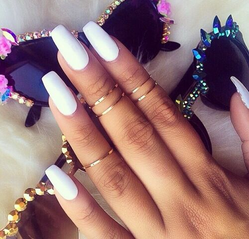 Can never go wrong with white nails