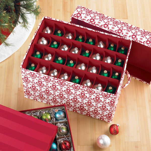 the container store jubilee ornament storage chests - Christmas Decoration Storage Containers