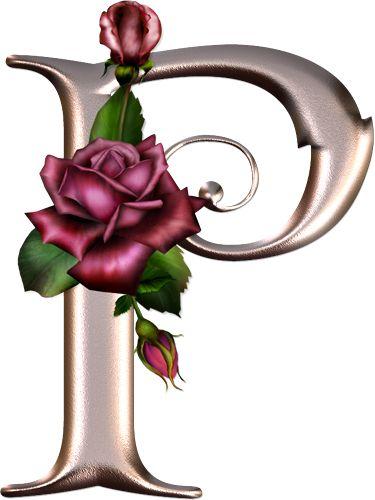 Alfabeto rosa con rosas.   Oh my Alfabetos!