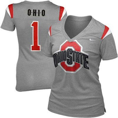 Nike Ohio State Buckeyes Ladies Replica Football Premium T-shirt - Gray