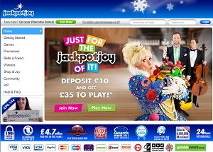 Jackpotjoy is one of the most original and exciting UK sites which offer some of the most popular instant win, bingo games and life changing jackpots.   http://www.slotsbonus.info/jackpotjoy-slots-bonus/