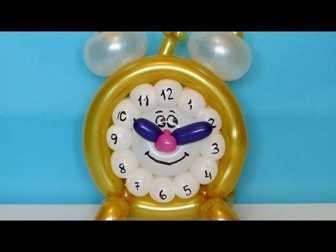 Веселый будильник из воздушных шаров / Funny alarm clock of balloon twisting - YouTube