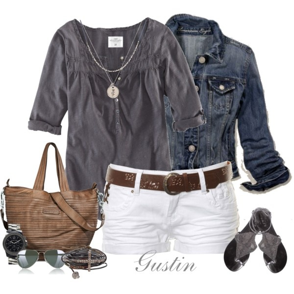 Love: White Shorts, Summer Looks, Casual Summer, Jeans Jackets, Shirts, Summer Style, Denim Jackets, Summer Outfits, Summer Night