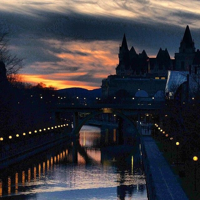 Stunning sunset over the Rideau Canal in Ottawa, Canada. For more information, visit www.ottawatourism.ca
