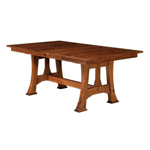 Cambridge Arts And Crafts Trestle Table | Craftsman Trestle Dining Tables |  Clear Creek Amish Furniture