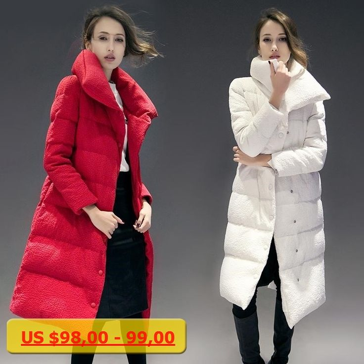 2017 New Promotion Fashion Slim Waist Womens Plus Size Winter Medium-long White Down Coat Female Long Over-the-knee Thickening