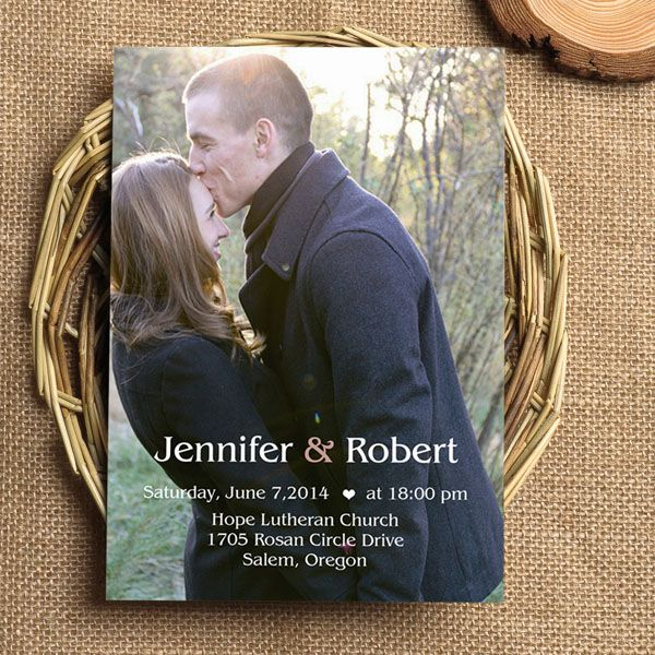1000 images about Photo Wedding Invitations – Wedding Invitations with Free Response Cards