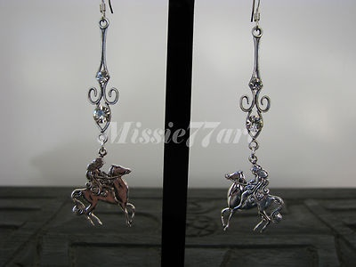 Silver Plate Lady Godiva Diamante Earrings with Surgical Steel Ear Wires $28.95