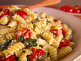 Fusilli with Spinach and Asiago Cheese Recipe, by Giada De Laurentiis. I love pasta. I love tomatoes. I love spinach. I love cheese. What?! There's a recipe for that?! Yay!